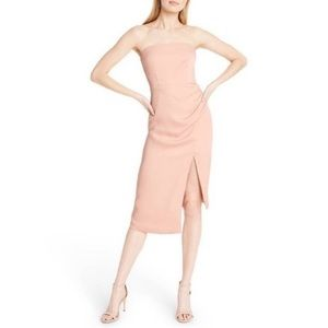 Cushnie x Target Strapless Blush Pink Midi Dress